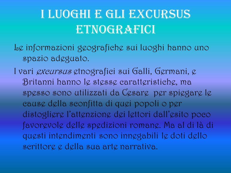 I LUOGHI E GLI EXCURSUS ETNOGRAFICI
