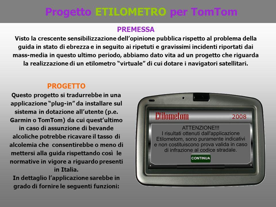 Progetto ETILOMETRO per TomTom
