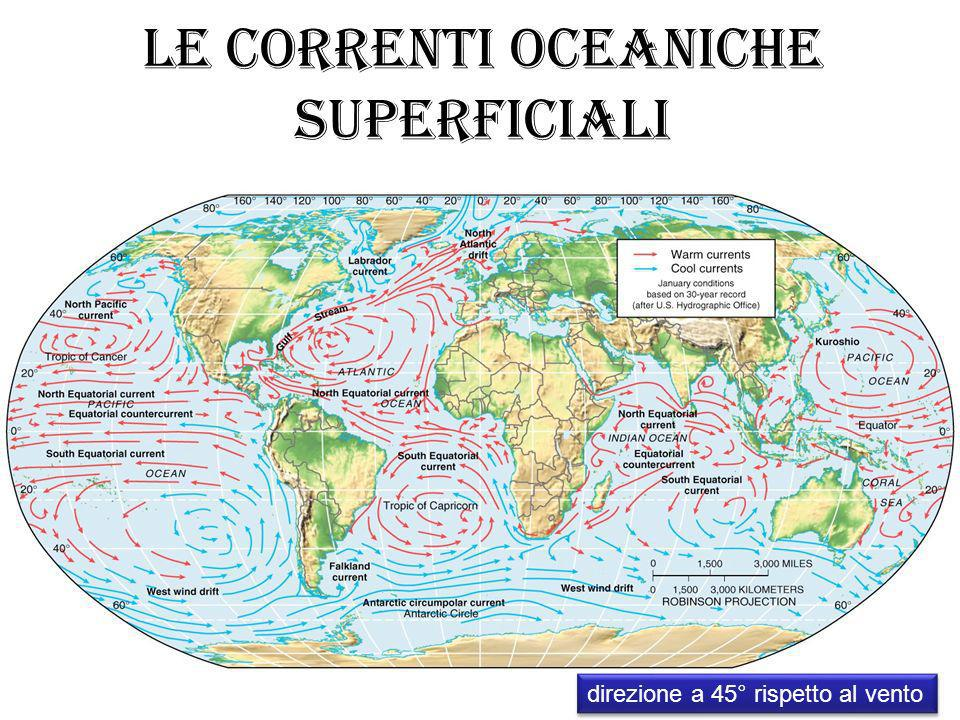 Le correnti oceaniche superficiali