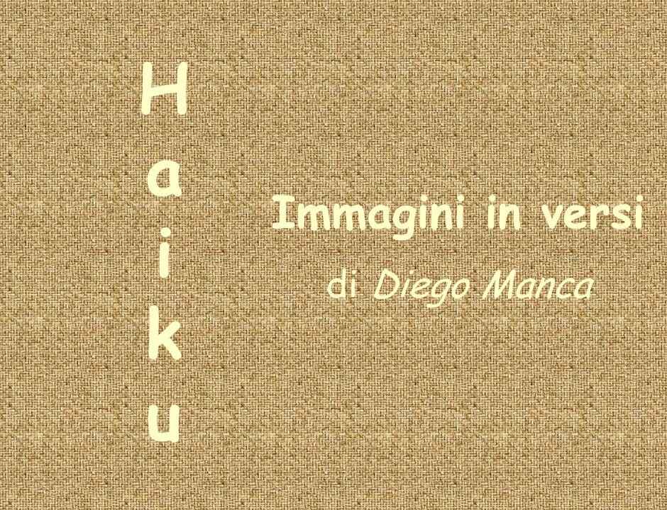 H a i k u Immagini in versi di Diego Manca