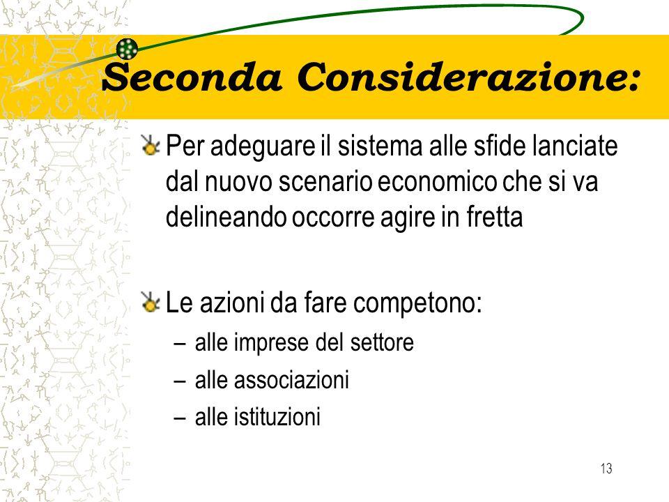 Seconda Considerazione: