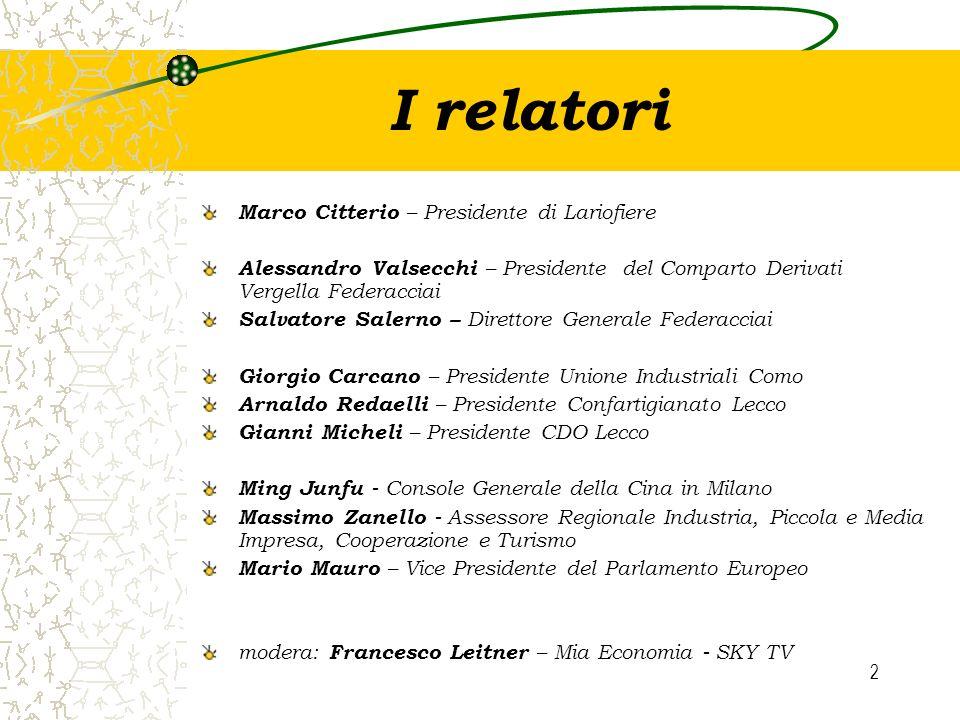I relatori Marco Citterio – Presidente di Lariofiere
