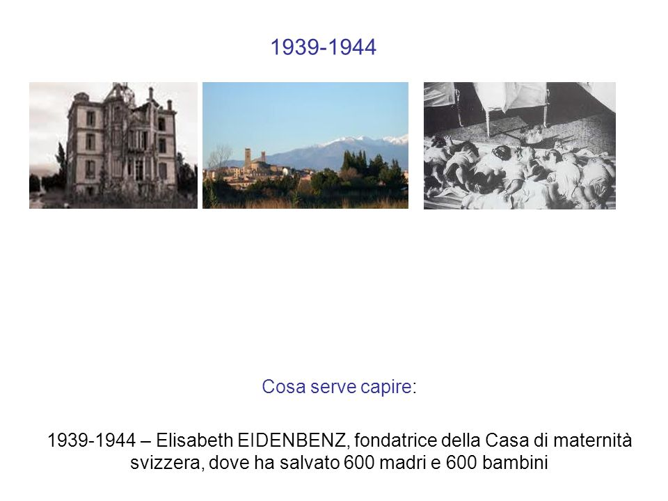 1939-1944 What you nhave. Cosa serve capire: