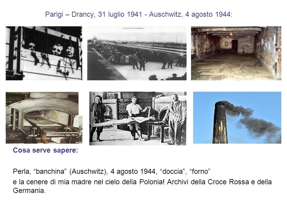 Parigi – Drancy, 31 luglio 1941 - Auschwitz, 4 agosto 1944: