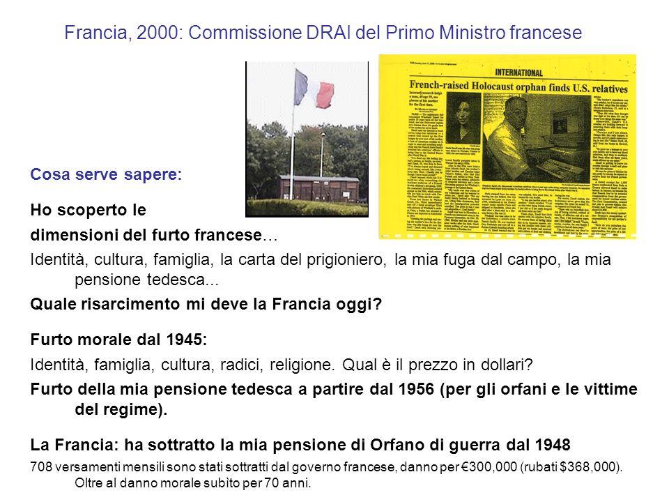 Francia, 2000: Commissione DRAI del Primo Ministro francese