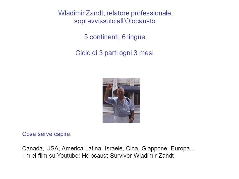 Wladimir Zandt, relatore professionale, sopravvissuto all'Olocausto