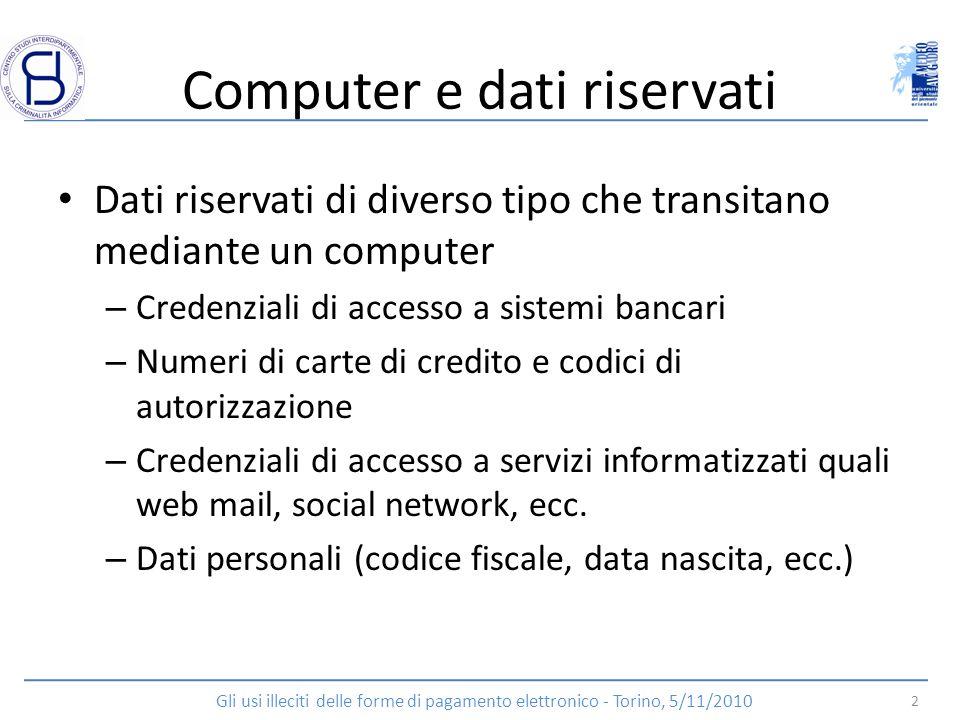 Computer e dati riservati