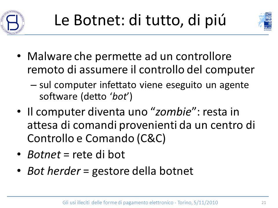 Le Botnet: di tutto, di piú