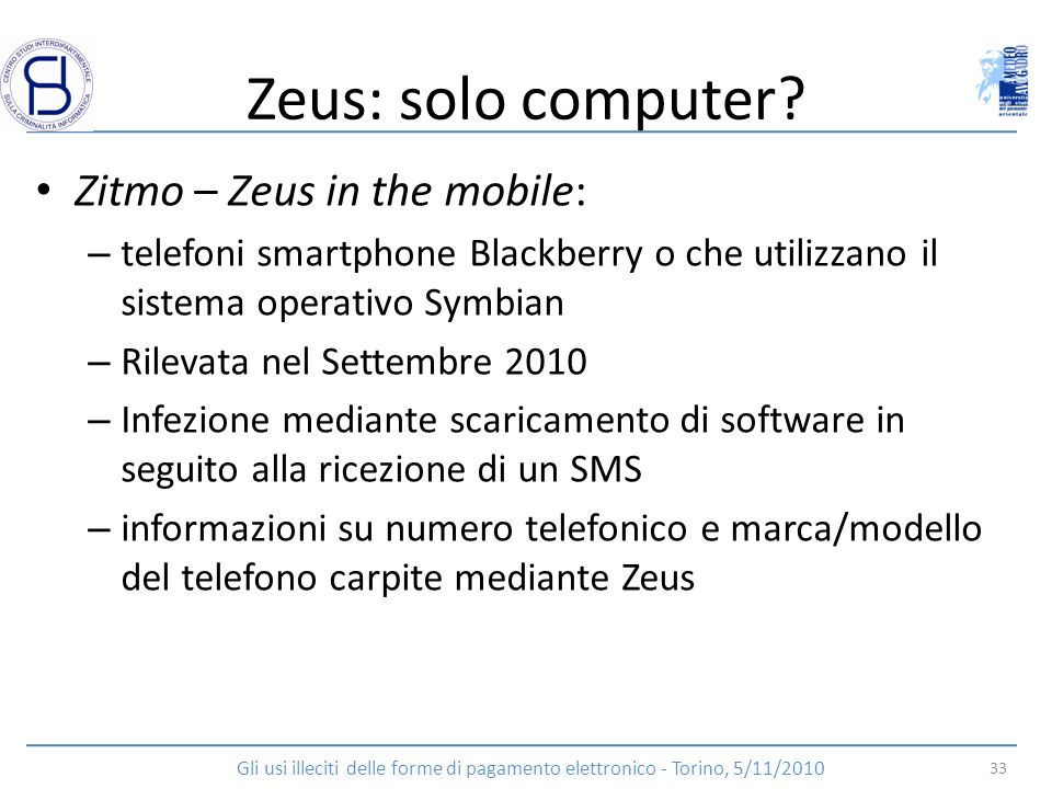 Zeus: solo computer Zitmo – Zeus in the mobile:
