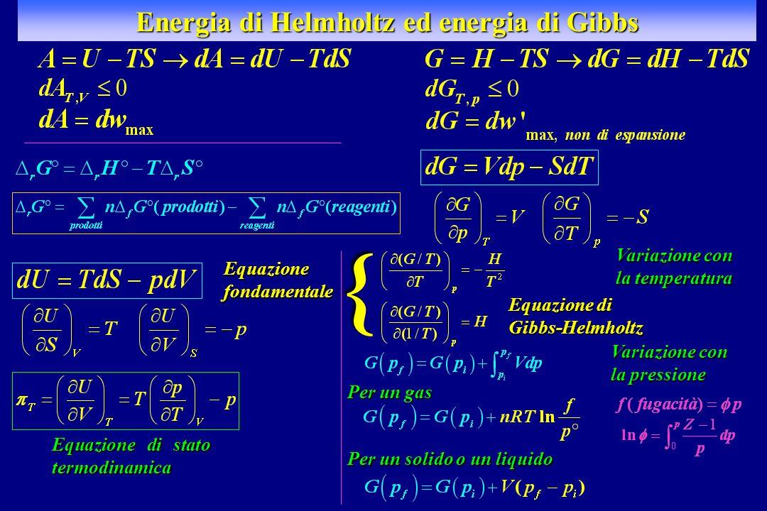 Energia di Helmholtz ed energia di Gibbs