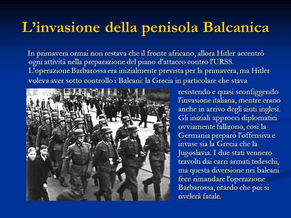 L'invasione della penisola Balcanica