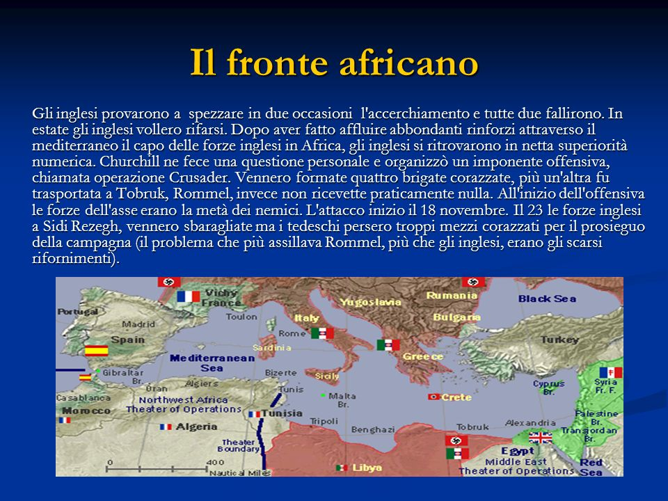 Il fronte africano