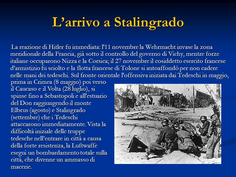 L'arrivo a Stalingrado