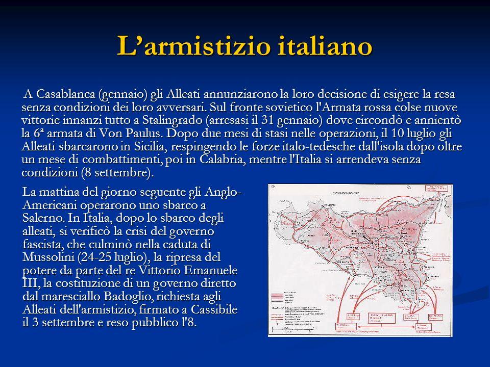 L'armistizio italiano