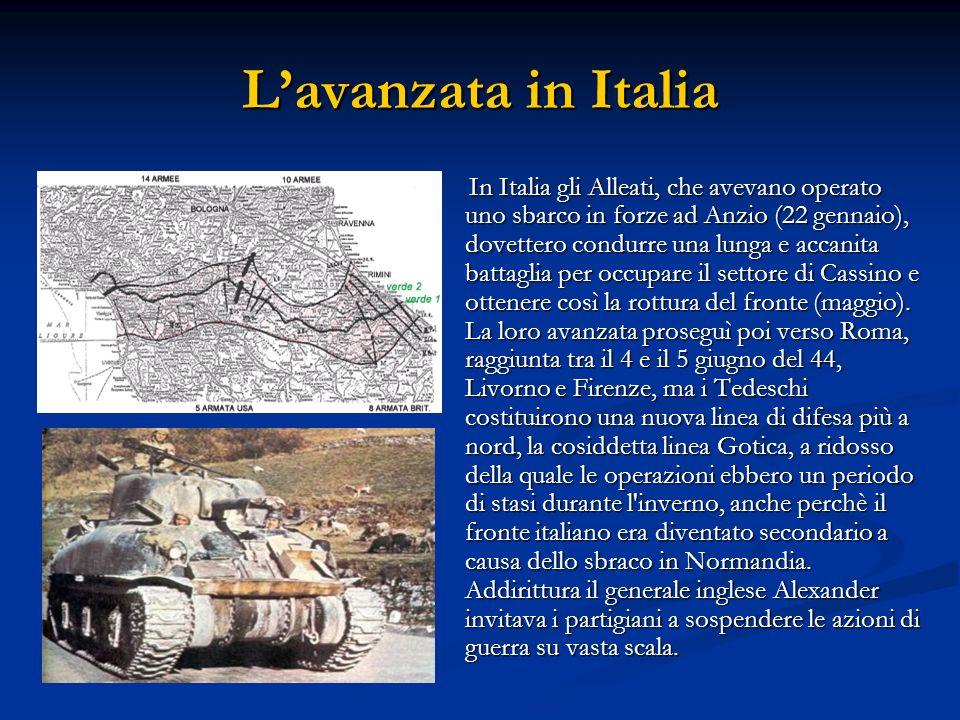 L'avanzata in Italia