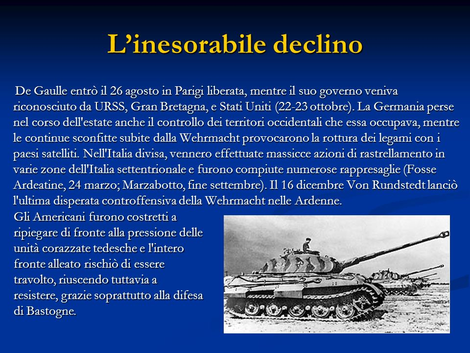 L'inesorabile declino