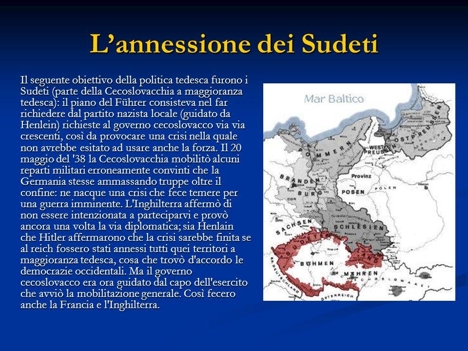 L'annessione dei Sudeti