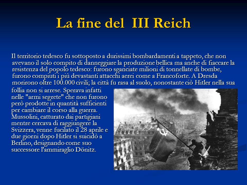La fine del III Reich