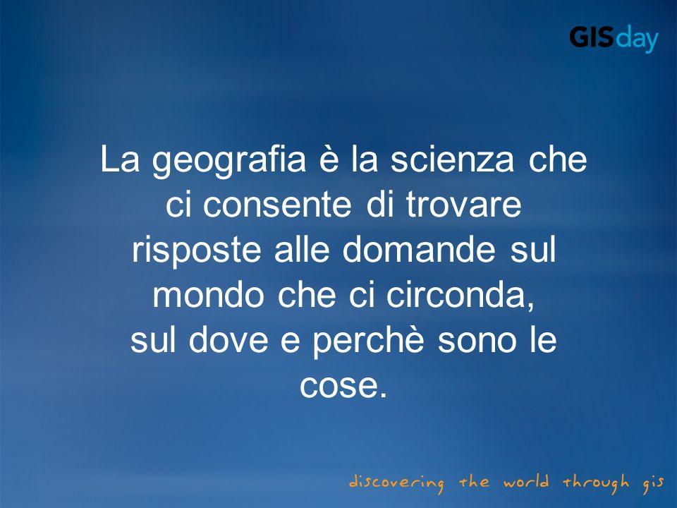 La geografia è la scienza che ci consente di trovare