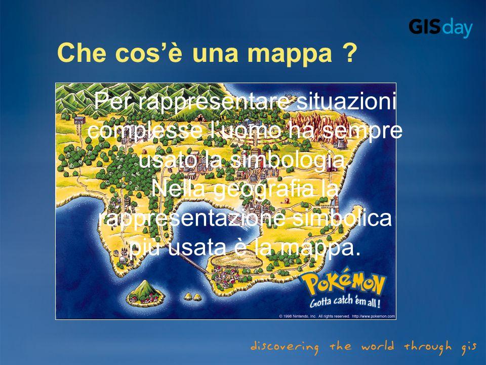 Nella geografia la rappresentazione simbolica più usata è la mappa.