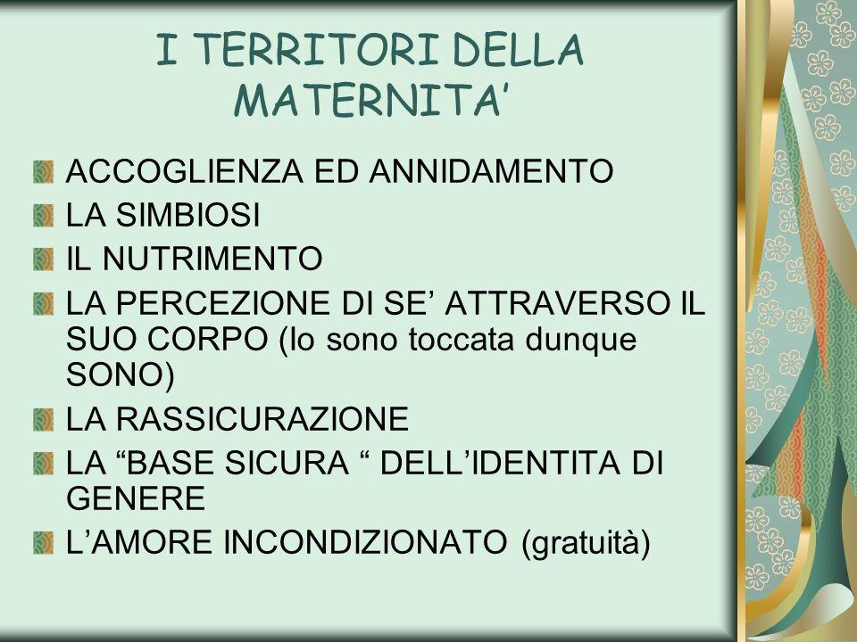 I TERRITORI DELLA MATERNITA'