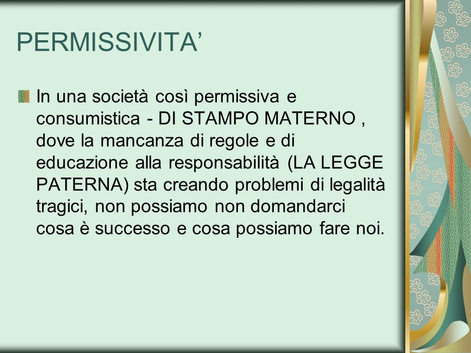 PERMISSIVITA'