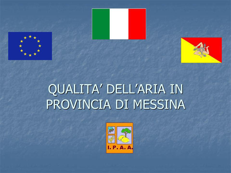 QUALITA' DELL'ARIA IN PROVINCIA DI MESSINA