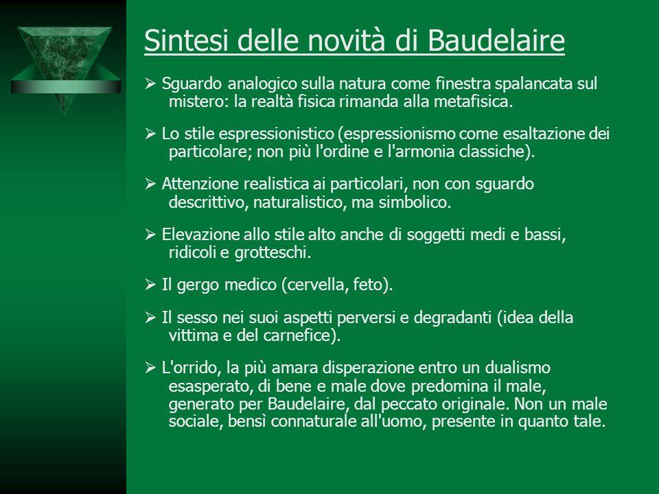 Sintesi delle novità di Baudelaire