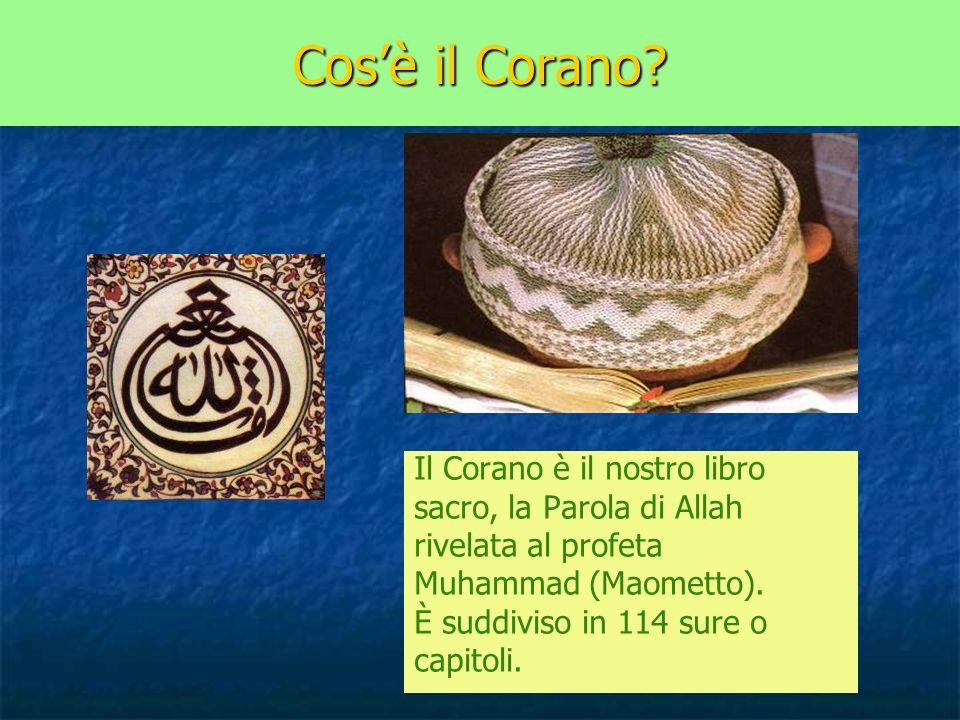Cos'è il Corano Il Corano è il nostro libro sacro, la Parola di Allah