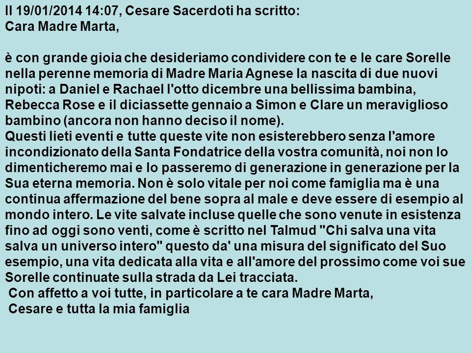 Il 19/01/2014 14:07, Cesare Sacerdoti ha scritto: