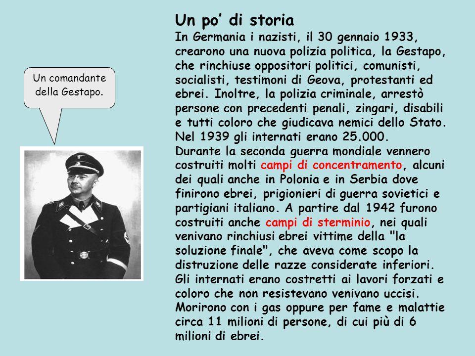 Un comandante della Gestapo.