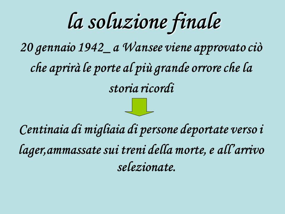 la soluzione finale 20 gennaio 1942_ a Wansee viene approvato ciò