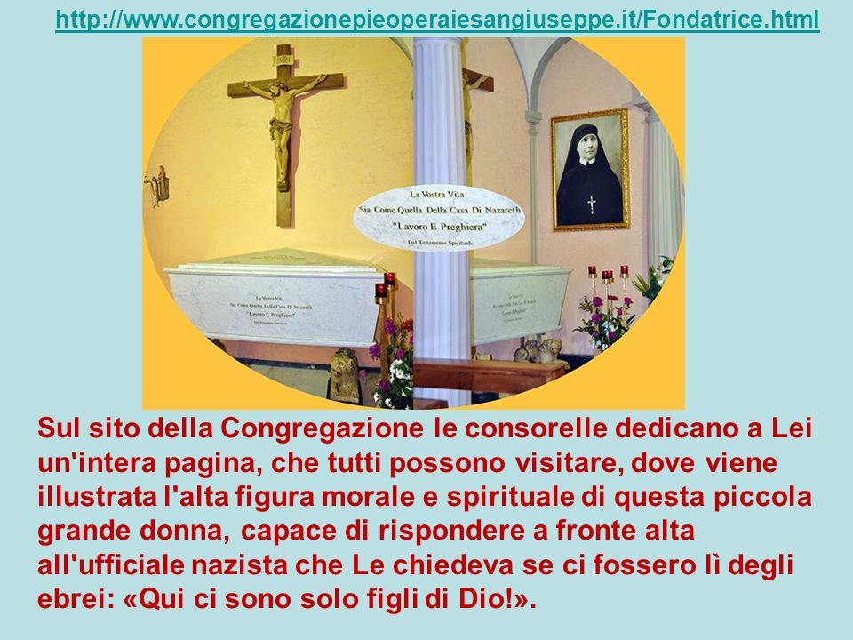 http://www.congregazionepieoperaiesangiuseppe.it/Fondatrice.html