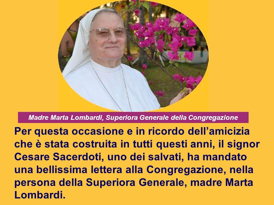 Madre Marta Lombardi, Superiora Generale della Congregazione