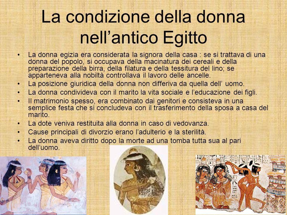 La condizione della donna nell'antico Egitto