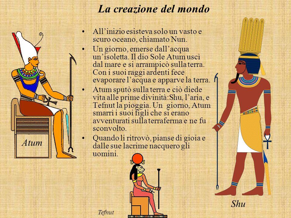 La creazione del mondo Atum Shu