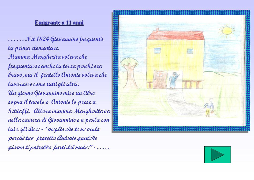 . . . . . . Nel 1824 Giovannino frequentò la prima elementare.