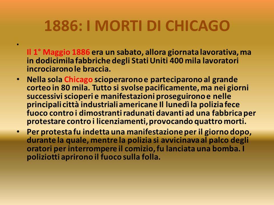 1886: I MORTI DI CHICAGO