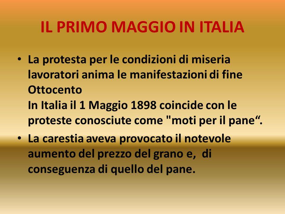 IL PRIMO MAGGIO IN ITALIA