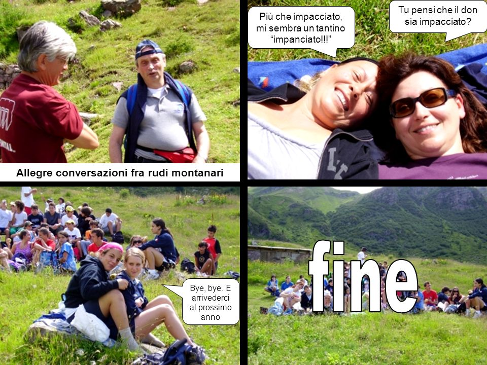 Allegre conversazioni fra rudi montanari