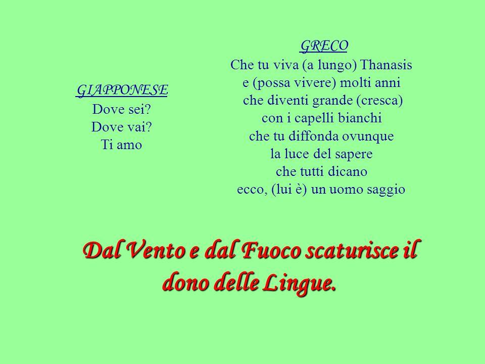 Dal Vento e dal Fuoco scaturisce il dono delle Lingue.