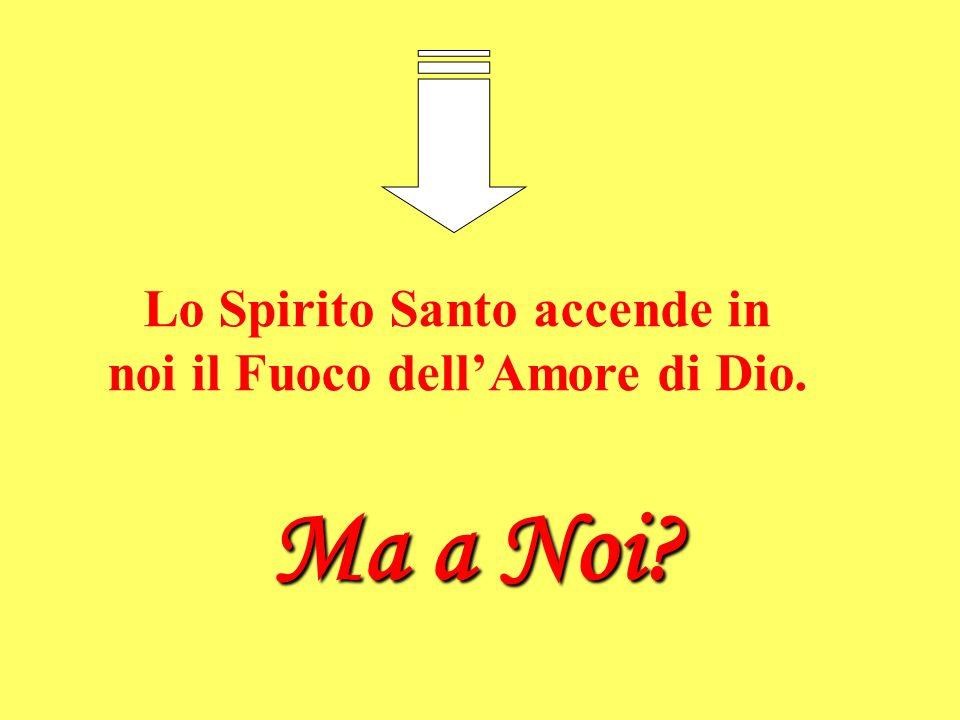 Lo Spirito Santo accende in noi il Fuoco dell'Amore di Dio.