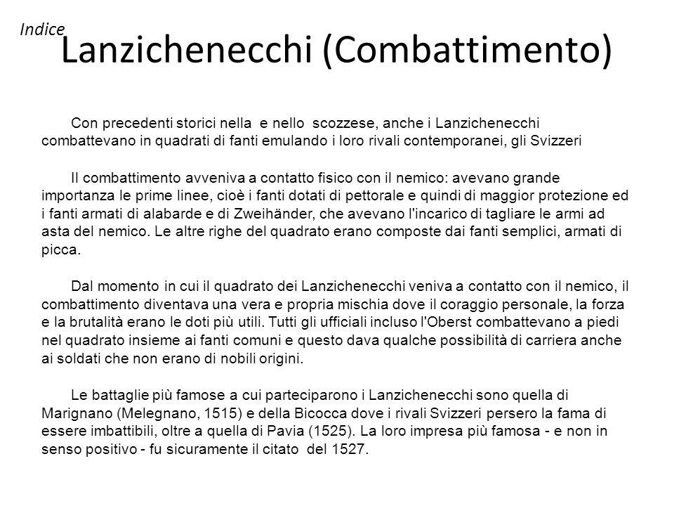 Lanzichenecchi (Combattimento)