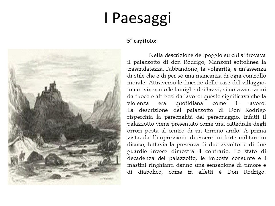 I Paesaggi 5° capitolo: