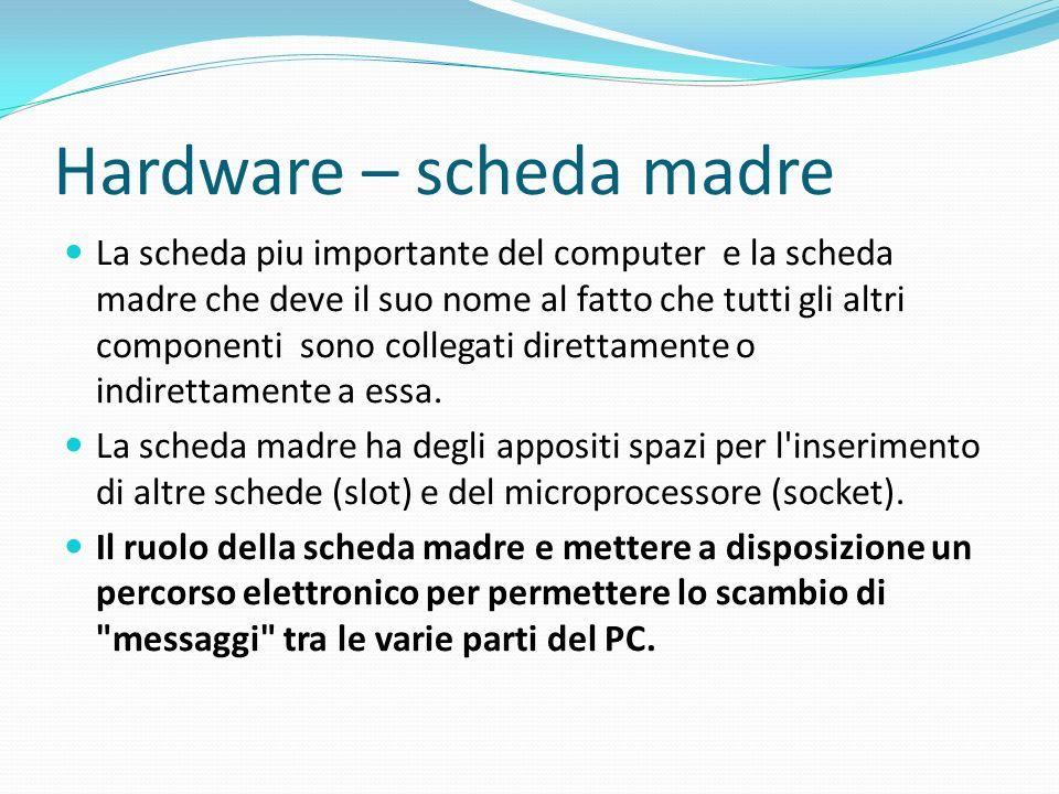 Hardware – scheda madre