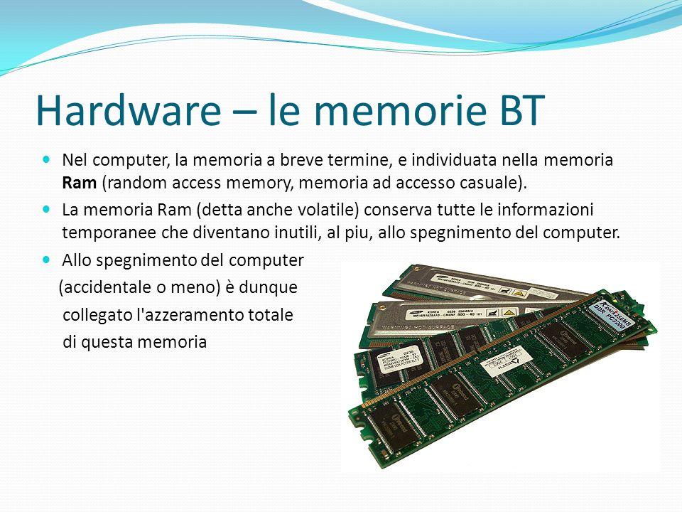 Hardware – le memorie BT