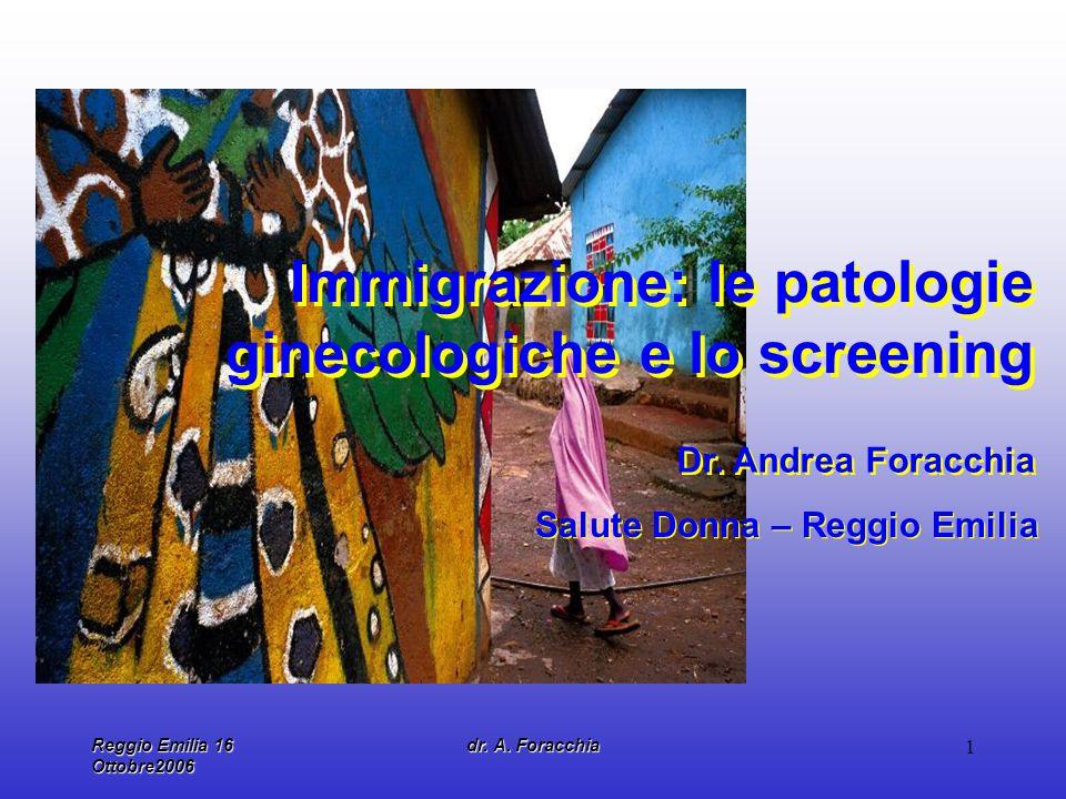 Immigrazione: le patologie ginecologiche e lo screening