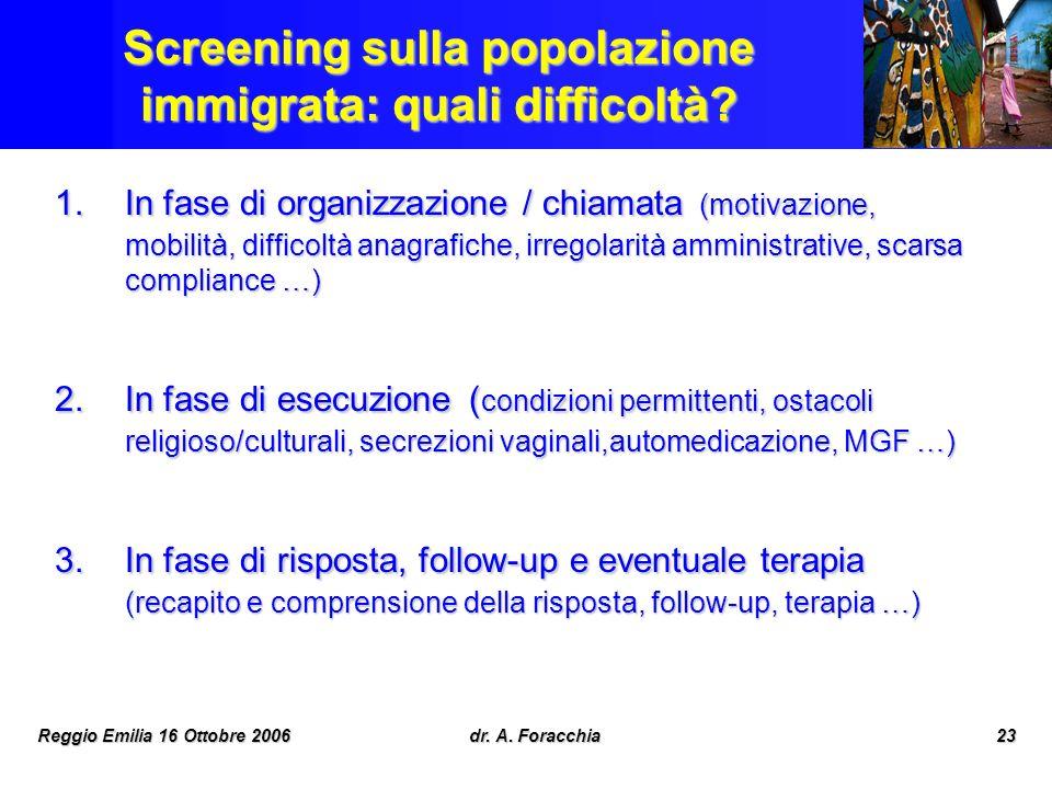 Screening sulla popolazione immigrata: quali difficoltà