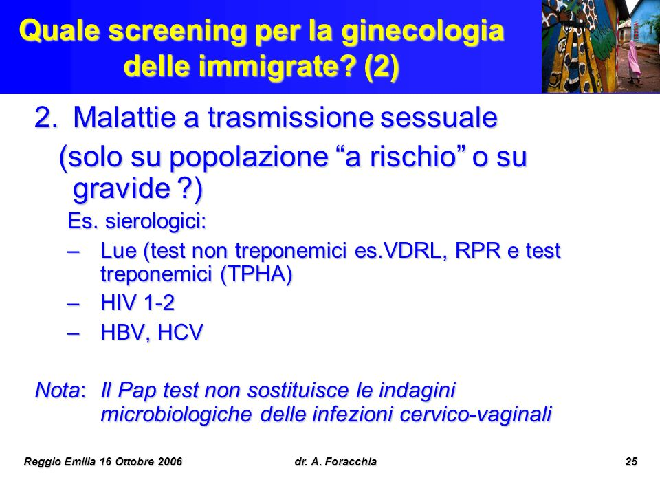 Quale screening per la ginecologia delle immigrate (2)