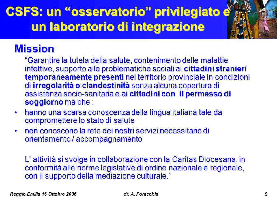 CSFS: un osservatorio privilegiato e un laboratorio di integrazione